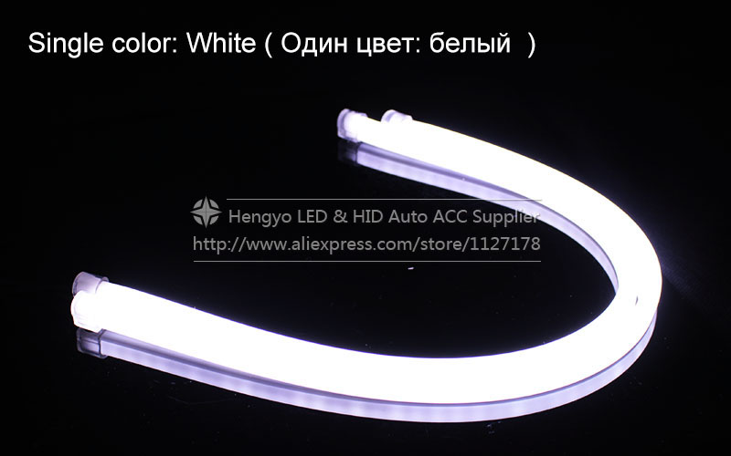 Lampu Eksternal 60cm LED Fleksibel DRL Strip LED Daytime Running - Lampu mobil - Foto 6