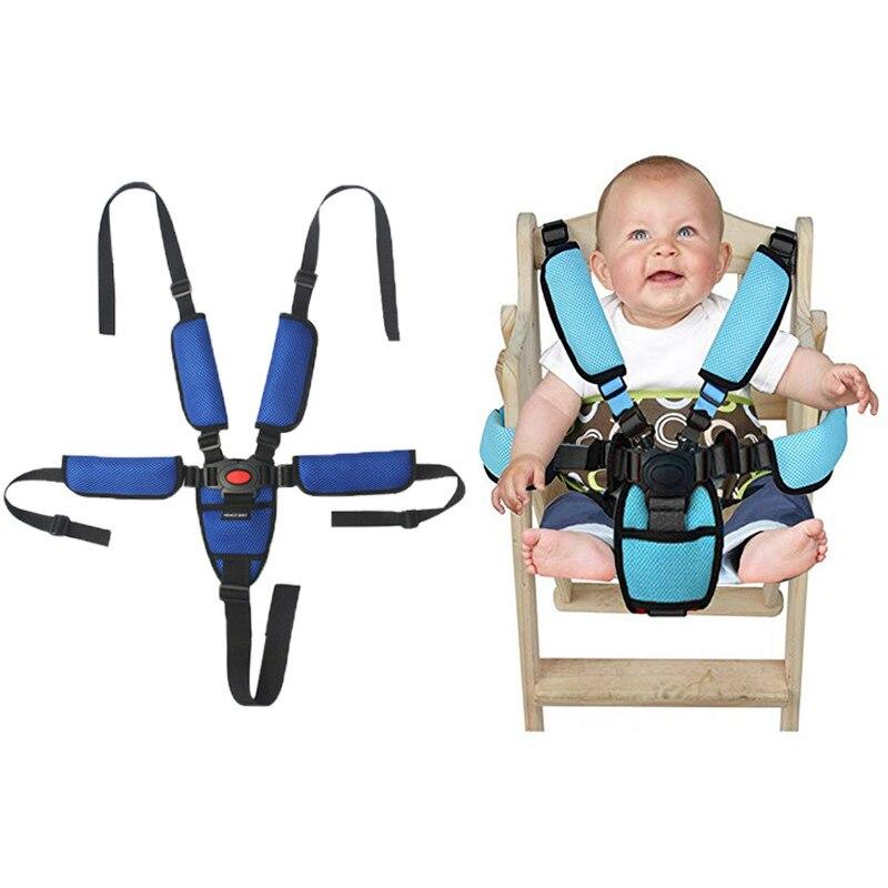 Five-Point Baby Car Seat Safety Belt Fixed Strap Children Highchair Seats Belt Strap Kids Seatbelts Baby Stroller Accessories belt