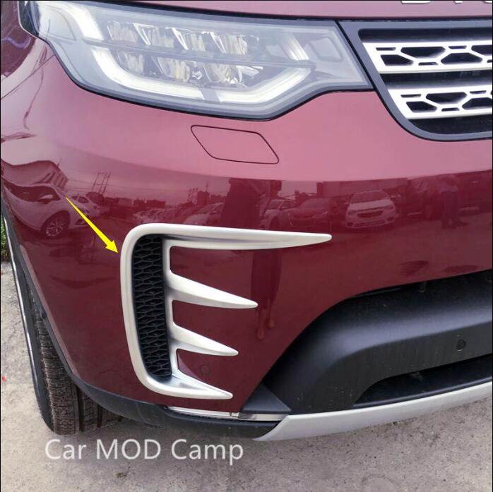 For Land Rover Discovery 5 L462 2017 2018 ABS Front Fog Light Fog Lamp Cover Trim 2pcs Car Styling accessories! коврики в салон land rover range rover evoque 2011