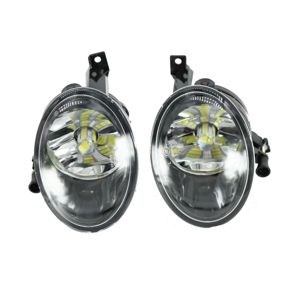 Car LED Light For VW Touran 2011 2012 2013 2014 2015 2016 Left And Right Side Front LED Fog Light Fog Lamp With LED Bulbs runmade front lower driving fog light for 2012 audi a4 b9 right side with h8 35w 12v bulbs l8kd 941 700a