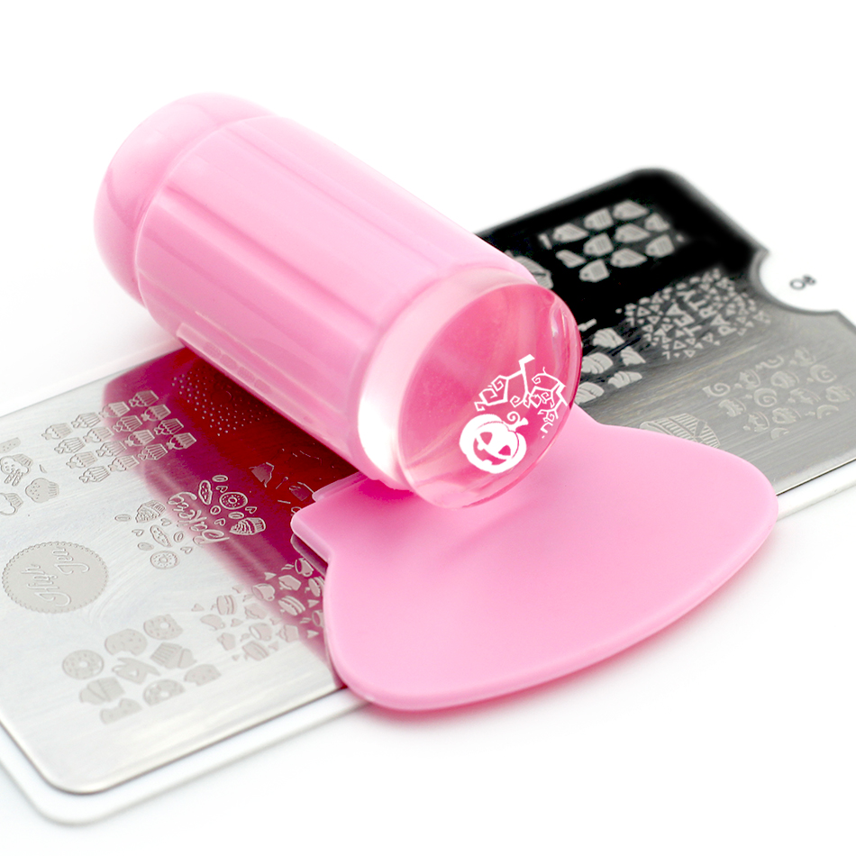 1 set Nail Jelly Stamper&Scraper for Gel Stamping Printing