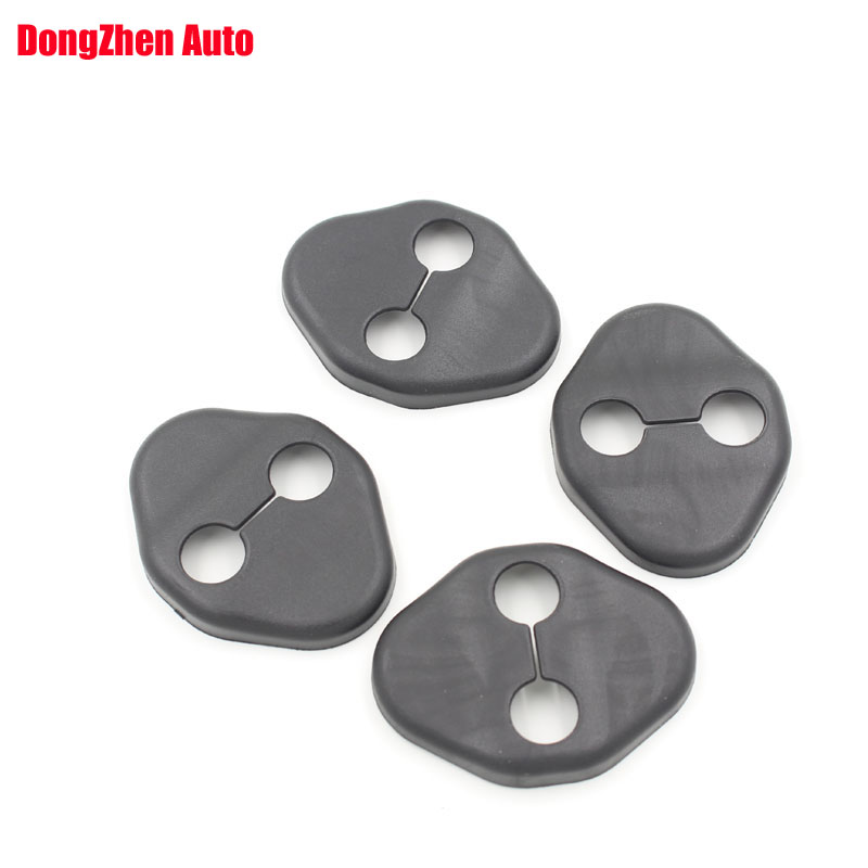 4pcs Car Door lock decoration cover Door lock protective cover for KIA K2 / RIO <font><b>SOUL</b></font> Hyundai solariserna Rena