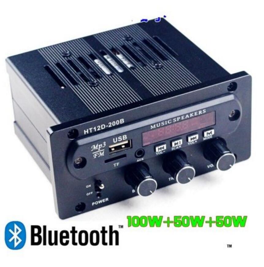 bilder für Neue Digitale DC24V Verstärker Multimedia Card U-scheibe Bluetooth 2,1 Sound HIFI Bass Amp kostenloser versand