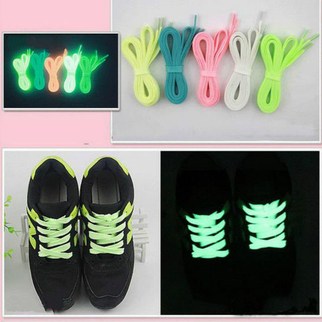 8e47cd46b432 2Pair 120cm Sport Luminous Shoelace Glow In The Dark Night Color  Fluorescent Shoelace Athletic Sport Flat Shoe Laces Hot Selling