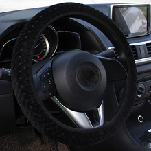 Universal Car Steering Wheel Cover Winter Soft Warm Plush Covers Pearl Velvet Auto Decoration Steering Protector