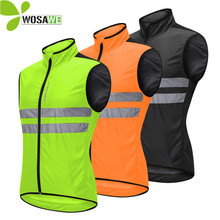WOSAWE Cycling Vest Sleeveless Tight Jerseys Ropa Maillot Reflective Windbreaker Ciclismo MTB Bike Clothes Bicycle Safety Vest