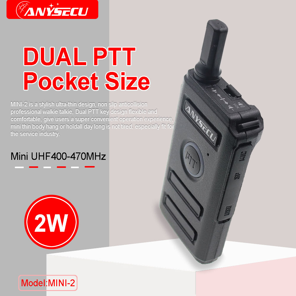 ANYSECU MINI-2 SC-600 RT18 PMR Mini Radio Walkie Talkie FRS Dual PTT VOX Two-way Radio Portable Transceiver Walkie-Talkie