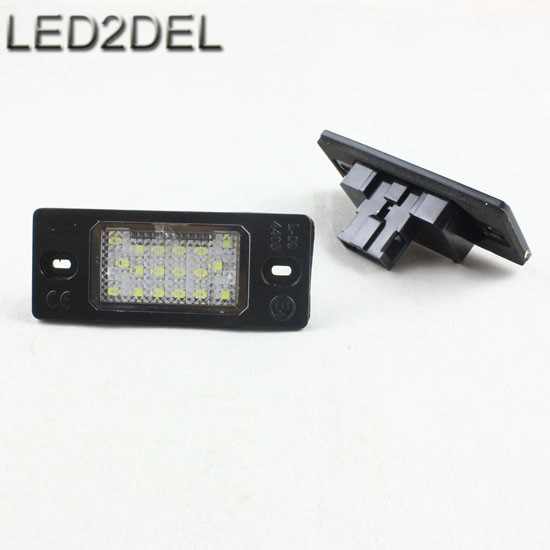 6000K White 18-SMD LED Number License Plaste Lamps Light For Porsche Cayenne VW Touareg Tiguan (5sets)