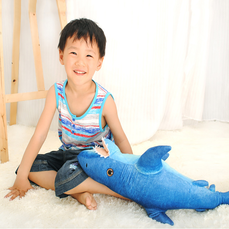 Plush Sharks Toys Marine Animal Stuffed Shark Dolls Best Gifts for Boys Accompany Doll for Kids Birthday Gifts fancytrader giant blue shark plush toys big stuffed sea animal shark doll pillow 115cm 45inch best gifts for children