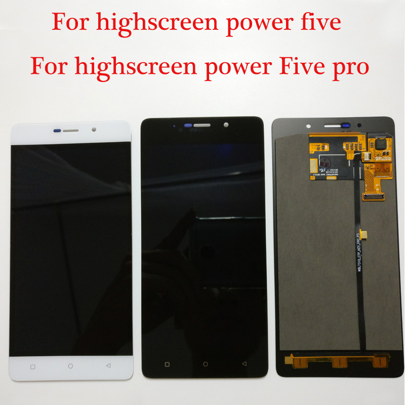 100 Tested NEW Original For Highscreen Power 5 Five Pro Power Five 5 LCD Display Touch