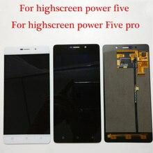 100% テスト新オリジナル Highscreen 電源 5 5 プロ/電源 5 5 Lcd ディスプレイ + タッチスクリーンデジタイザアセンブリ無料ツール