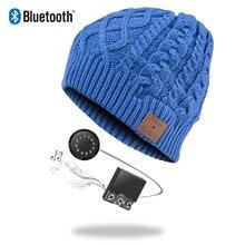 Bluetooth Beanie Stereo Kopfhörer Drahtlose Freihändige Skullies Stricken Hut Winter Sport Headwear Waschbar Kappe Kopfhörer Musik Audio