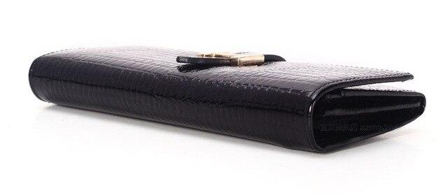 Crocodile Leather Slim Wallet - Carteira Feminina 5