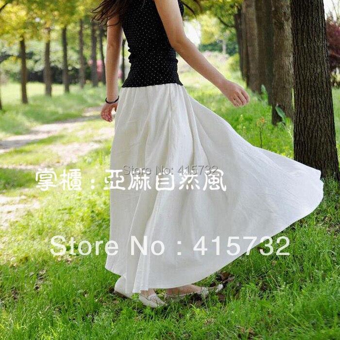 Popular White Linen Skirt-Buy Cheap White Linen Skirt lots from ...