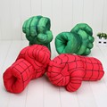 "New Arrival 13"" Incredible Hulk PLUSH Smash Hands Spider Man Plush Gloves Performing Props Toys avengers children bunching toy"