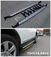 For Toyota RAV4 2013 2014 15 2016 2017 2018 Running Boards Side Step Bar Pedals Nerf Bars High Quality Aluminium Car Accessories