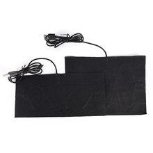 Горячая Размер S/M углеродное волокно с подогревом колодки USB с подогревом куртка пальто жилет аксессуары теплый сзади шеи быстрый нагрев
