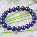 "Fashion Jewelry Stretch 10MM Round AA+ Genuine Lapis Lazuli Bracelete 8"" 1Pcs H680"