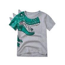 2019 SUMMER BABY GIRL CLOTHES BOYS CLOTHING KIDS DINOSAUR CARTOON T SHIRTS TOPS COTTON