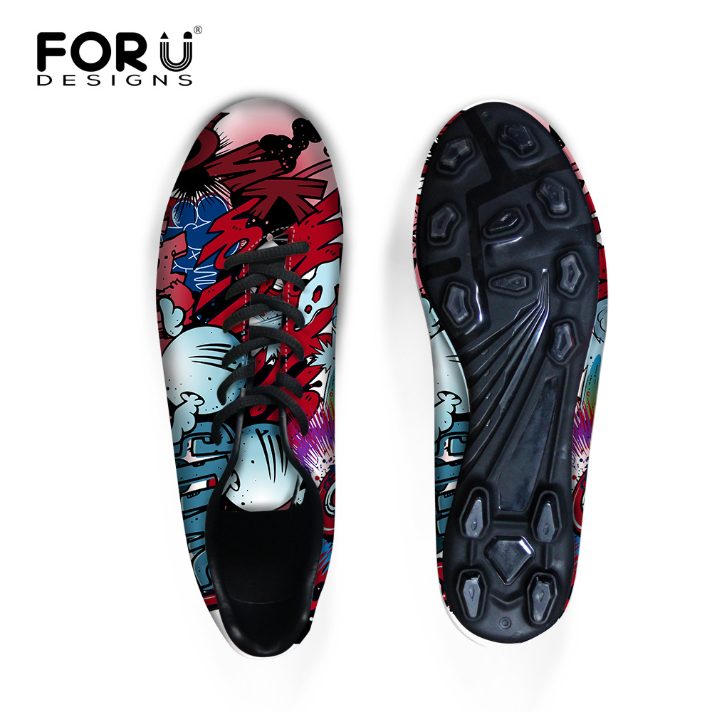 cd478b357 Men Cleats Shoes Graffiti Outdoor Fashion Mens Indoor Shoes Boys Boots  Futbol Casual Shoes For Sport Foot ball FORUDESIGNS 2016-in Men s Casual  Shoes from ...