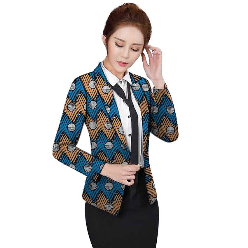 Chaqueta africana con estampado de blazers para mujer diseño de negocios Ankara chaquetas de moda hechas a medida para boda chaqueta femenina ropa exterior-in chaqueta de deporte from Ropa de mujer    1