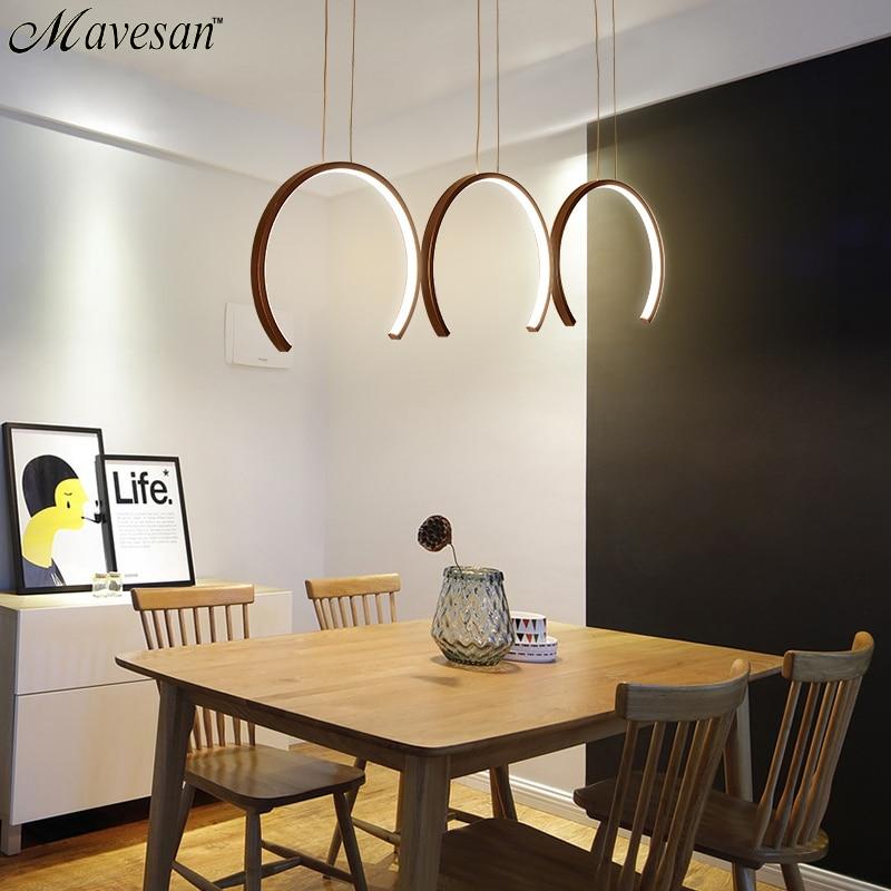 Aluminum Modern LED Pendant light White Coffee Led Pendant Lamp For Dining Room Living Room Bedroom