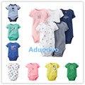 Baby clothing! 2016 Novo Similar Carte Menino Gril Romper Do Bebê Recém-nascido Roupas bodysuit de Manga Curta-Nascido de Uma peça Produto
