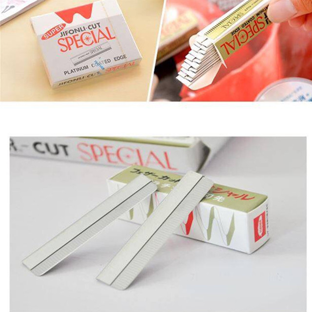 Threading inserts makeup makeup tools dedicated feather scraping blade grain eyebrow embroidery needle slices 1