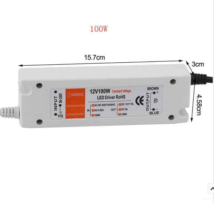 3 lata gwarancji DC 12V konwerter ładowarka przełączania 18W 28W 48W 72W 100W LED sterownik adapter zasilania do taśmy