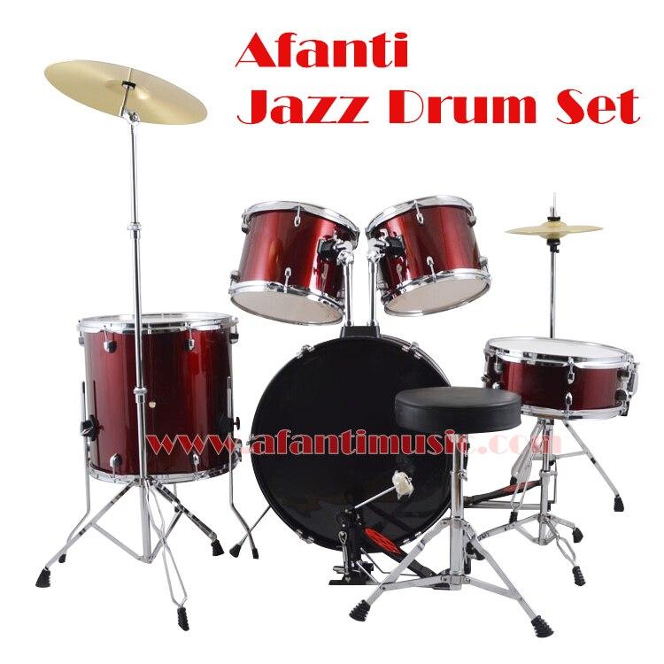 5 drums 2 crash cymbals purple color afanti music jazz drum set drum kit ajds 433 in. Black Bedroom Furniture Sets. Home Design Ideas