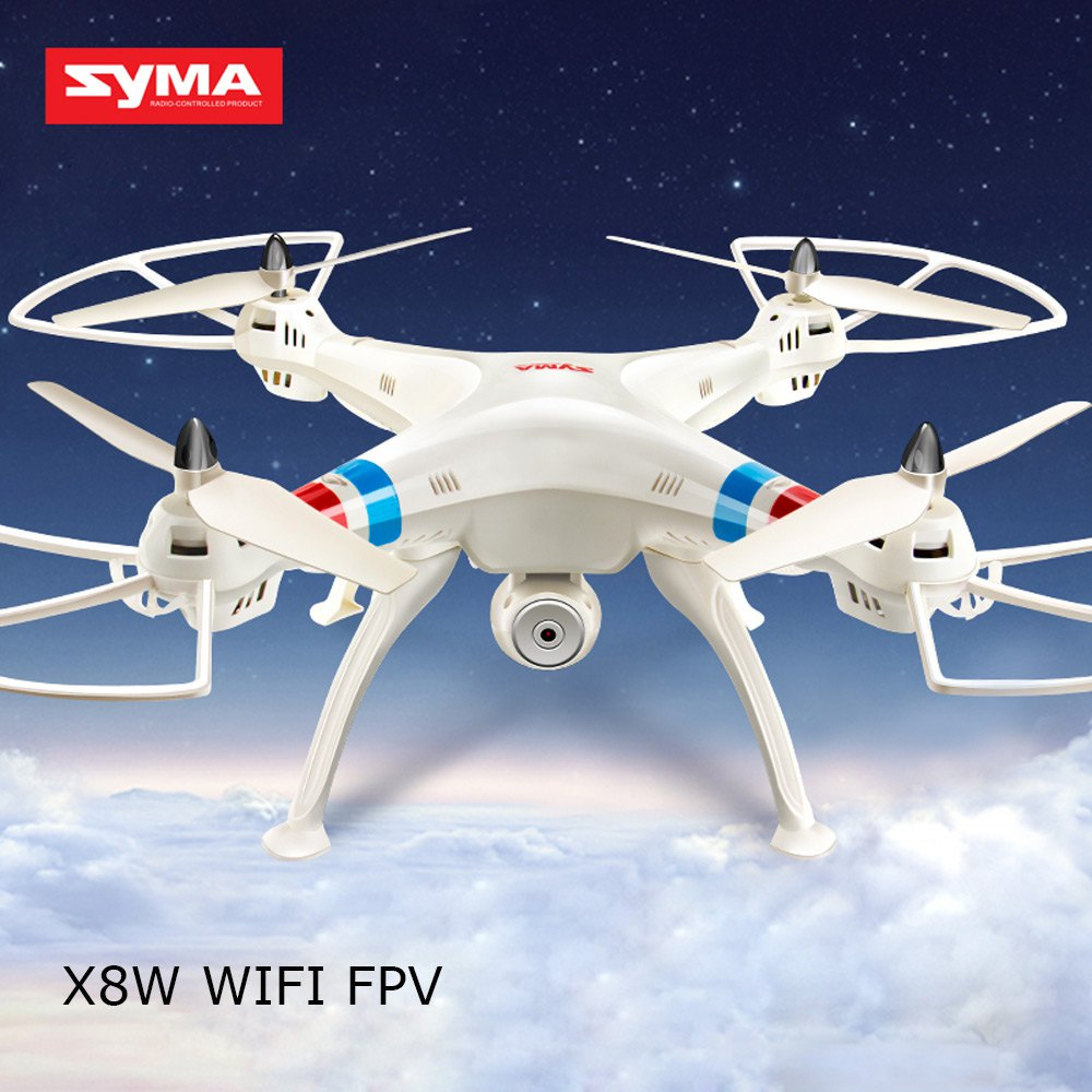 SYMA X8W RC Drone Dron 2.4G 4CH 6Axis WIFI FPV RC Helicopter Quadcopter With 0.3MP HD Camera Headless Mode 3D Rollover Drones rc drone quadcopter x6sw with hd camera 6 axis wifi real time helicopter quad copter toys flying dron vs syma x5sw x705