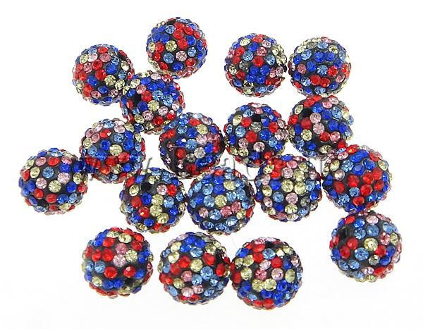 New 12MM 10pcs   lot Chunky Resin Rhinestone Beads Bling Resin Ball Beads  for Chunky Kid Necklace Jewelry 01b65c30914e