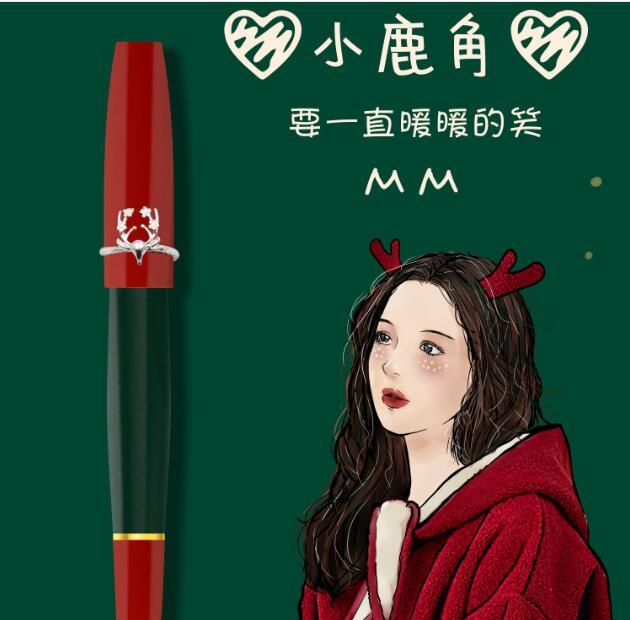 Christmas Gift Fountain Pen Pen With Pretty Ring pocket pen mini resin pen