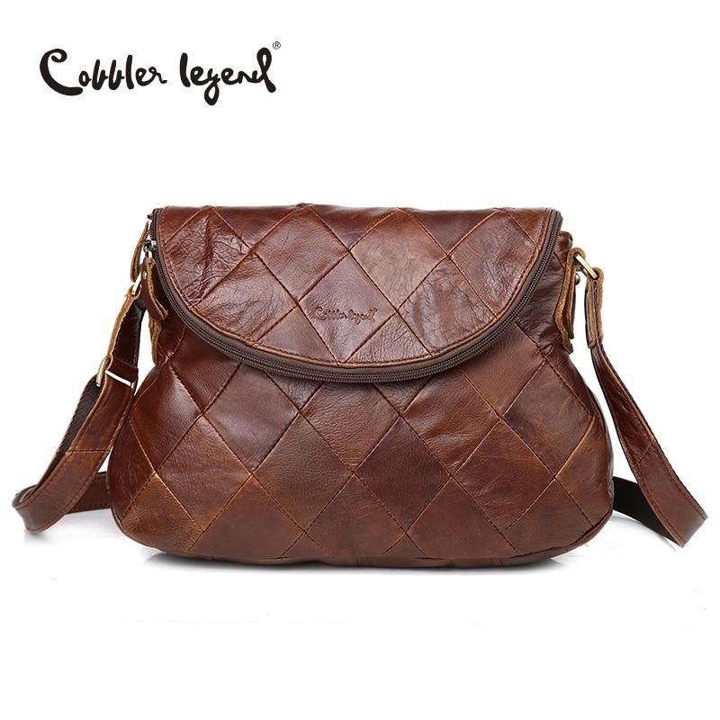 Szewc legenda marka projektant 2019 nowych kobiet Crossbody torba kobiet torebki w stylu Vintage torby na ramię panie torba ze skóry naturalnej w Torebki na ramię od Bagaże i torby na  Grupa 1