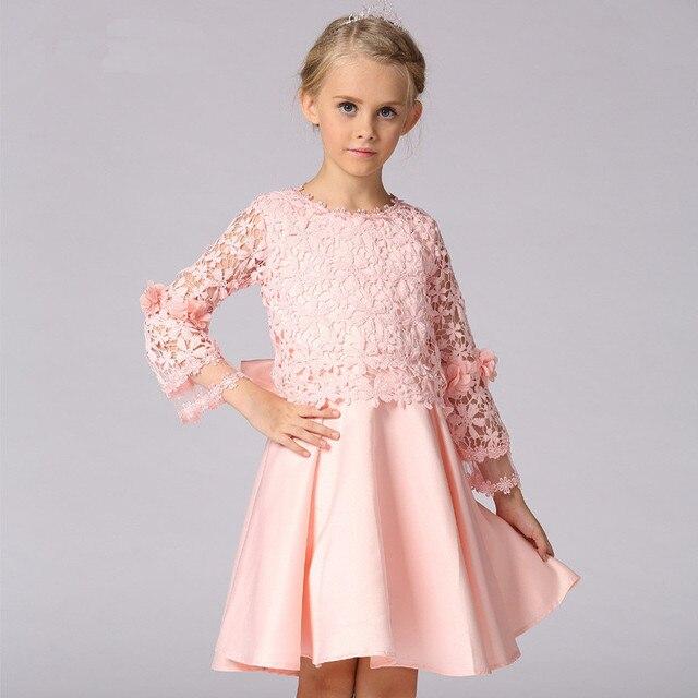 Vestidos de los niños Niñas Princesa Del Arco de la Señora Sólida de ...