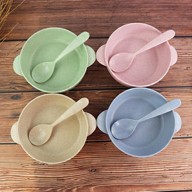 Cute Solid Color Fruit Snack Sauce Bowl Kids Feed Food Ice Cream Container Tableware With Spoon & Cute Solid Color Fruit Snack Sauce Bowl Kids Feed Food Ice Cream ...
