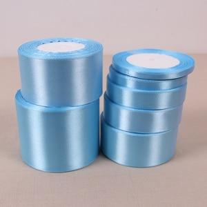 Fitas de cetim azuis 6mm 10mm 15mm 20mm 25mm 40mm 50mm, natal, casamento fitas azuis para decoração de festas, embalagem de presente