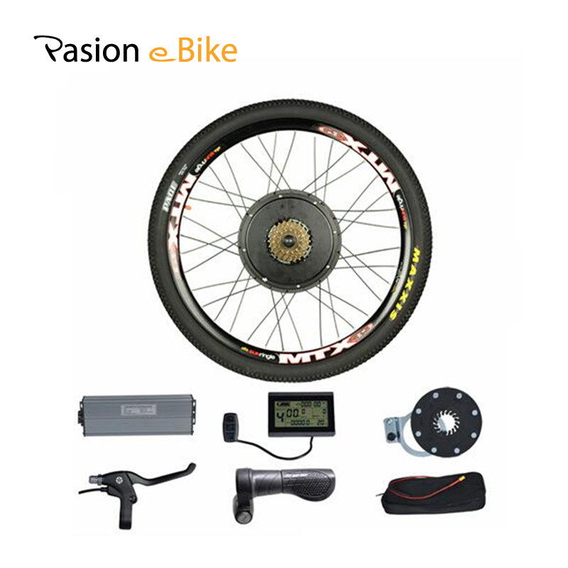 PASION E BIKE 48V 1500W Motor Electric Bicycle Bike Conversion Kit for 26 Rear Wheel Without Battery pasion e bike 48v 500w electric fat bikes bicycle gear hub motor conversion kit bafang 190mm 26 rear wheel 80mm rims