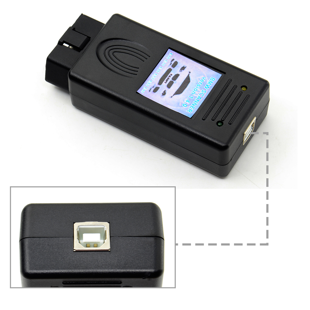 5pcs/lot For Bmw Scanner 1.4 OBDII scanner 1.4 code reader with obd2 interface 1.4.0 version Auto diagnostic tool(China)
