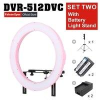 FALCONEYES 31 Вт W 512 Светодиодная панель кольцо для видео ж/камера кронштейн/фильтр/аккумулятор/зарядное устройство/комплект осветительных стоек