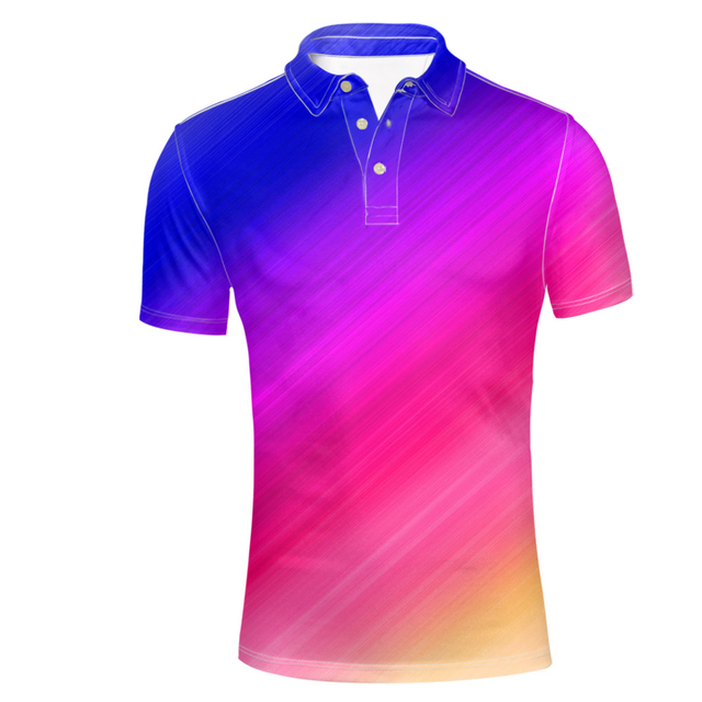 Polos respirants à manches courtes Casual homme MthGTCY