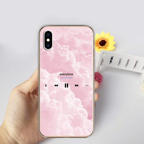 Ariana Grande AG Thank u Transparent Soft Silicon Phone Cases Cover for iPhone XS MAX X XR 7 6S 6 8 Plus 5S SE 5 10 Coque Funda Multan