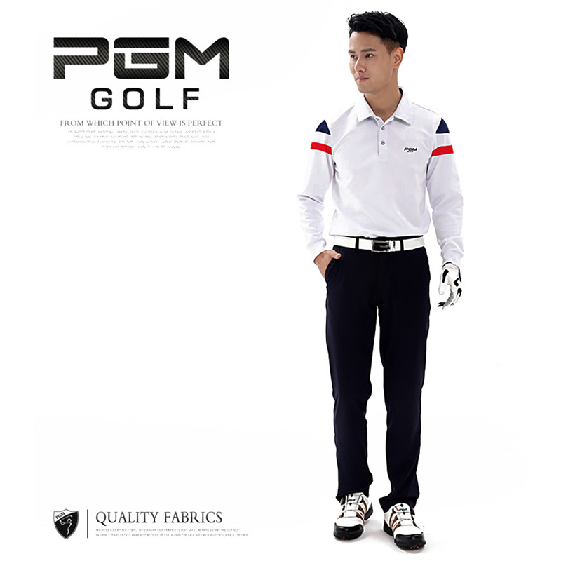 PGM Golf Shirts Golf Polo Shirts for Men Quick Dry Long Sleeve T-shirts Polyester Breathable Clothing Mens Golfs Shirt Sportwear