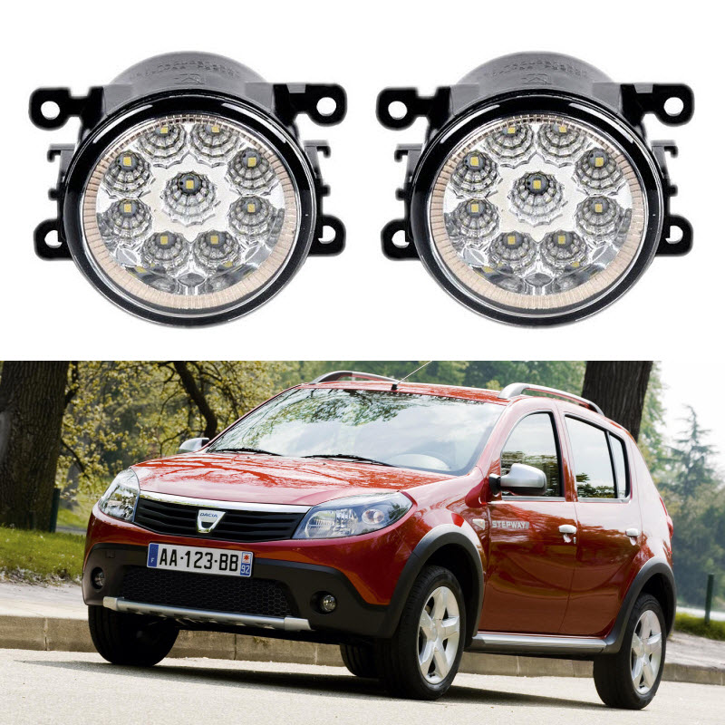 Car-Styling For Dacia SANDERO 2008-2016 9-Pieces Led Fog Lights 12V 55W Fog Head Lamp dacia sandero б у в европе