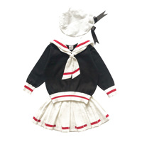 Baby girls clothes set knitted clothing set knitting sweater & skirt ∩ 3pcs toddler fashion baby clothing