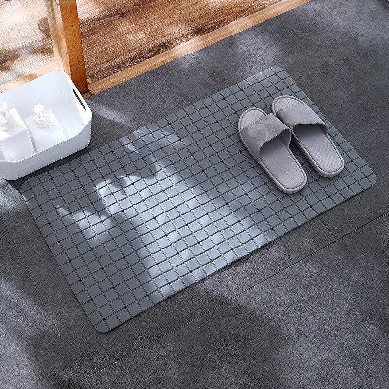 Strongwell Rectangle Plaid Non Slip Bath Mat Bathroom Shower PVC 4 Colors Kitchen Floor Non slip Mats Home WC Carpet Decorations in Bath Mats from Home Garden