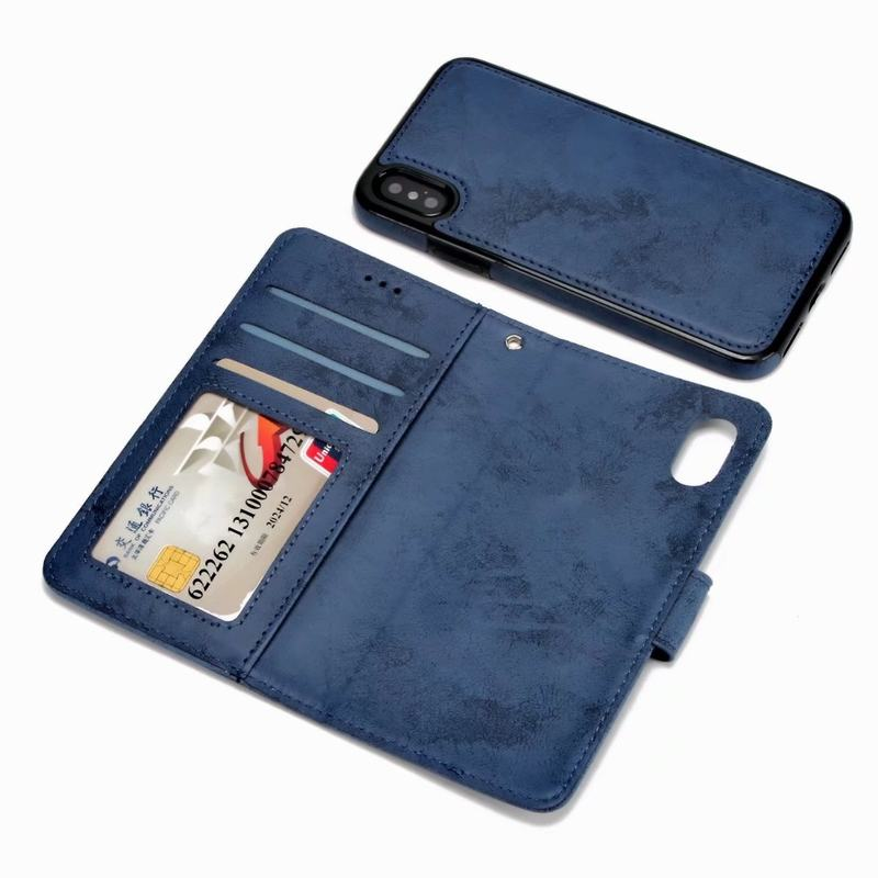 2 in 1 Flip Cover For Apple iPhone X Case Luxury PU Leather Wallet Phone Cases For iPhone 6 6s Plus 7 8 Plus For iPhone SE 5 5s
