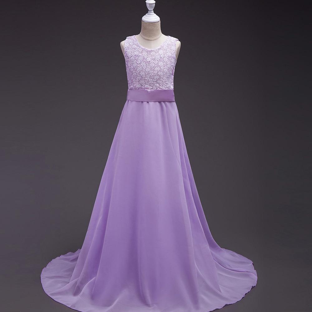 2017 Summer Girl Dresses Kids Purple Long Prom Dress Child Wedding Party Dress American Princess Dresses for Toddler 4-15 Years коляска esspero summer line light purple sl010a 108068275