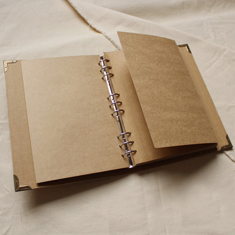 9 Ring Binder Extra Large Kraft Cardstock Cover Scrapbook