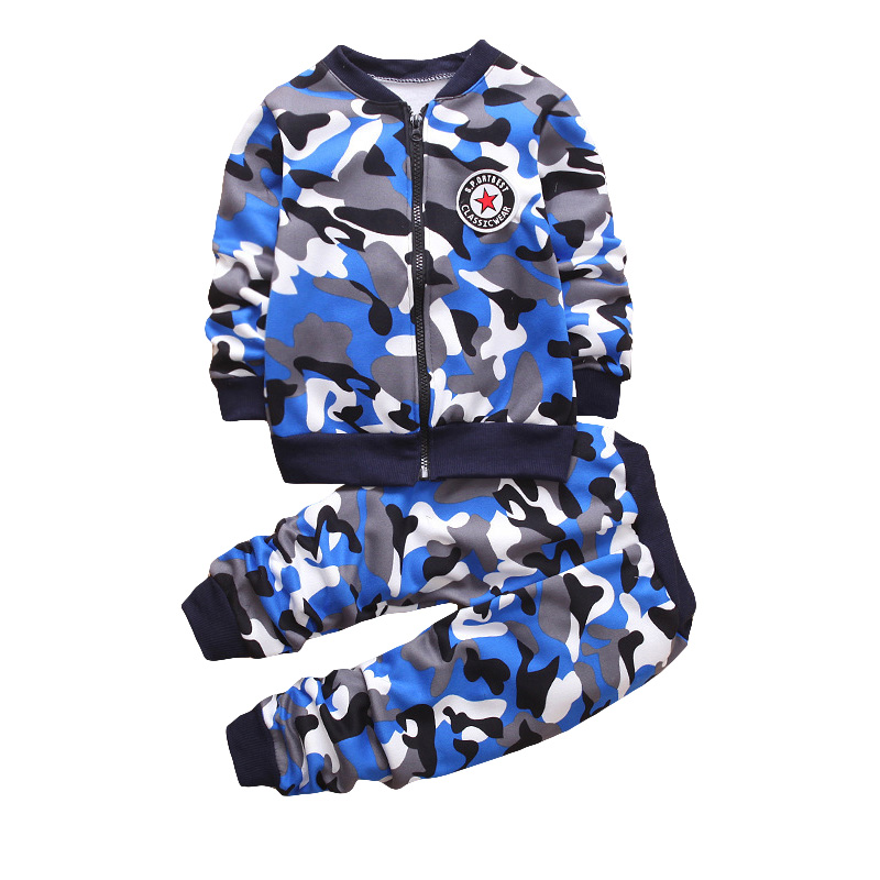 Children Clothing Camouflage Fashion Kids Sport Suits Long Sleeve Shirts Pants Boys Girls Clothes Toddlers Teens Tracksuits